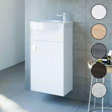 waschbecken mit unterschrank 2tlg waschtisch badmöbel set 40