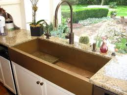 Copper Sinks With Drainboards by Huge Copper Sink And A Kitchen With A View Featuring A Copper