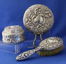 Vanity Mirror Dresser Set by 160 Best Antique Silver Vanity Sets Images On Pinterest Antique