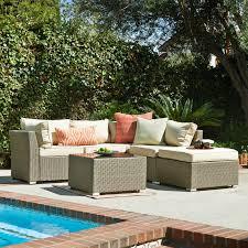 Outdoor Sectional Sofa Set by Thy Hom Jicaro 5 Piece Outdoor Wicker Sectional Sofa Set Hayneedle