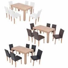 details zu vidaxl eiche essgruppe 7 tlg küchentisch esszimmer sitzgruppe mehrere auswahl