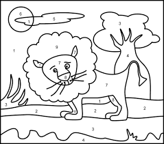 For Kids Easy Color By Number Worksheets Subtraction Online Coloring PagesPrintable