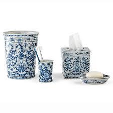 blue white bath accessories gump s