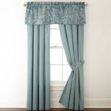 jcpenney home belcourt 2 pack rod pocket curtain panels jcpenney