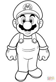 Super Mario Coloring Page Free Printable Pages