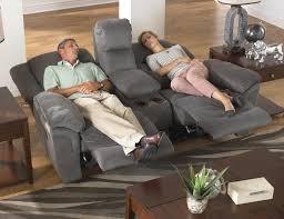 Catnapper Reclining Sofa Set by Lay Flat Power Reclining Console Loveseat By Catnapper Wolf And