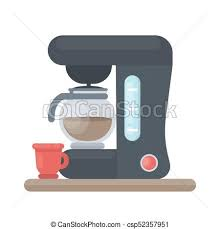 Isolated Coffee Machine With Pot On White