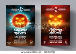 Free Halloween Flyer Templates by Pumpkin Halloween Flyer Template Download Free Vector Art Stock