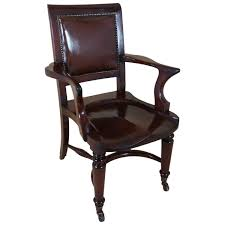 Victorian Mahogany Solid Seat Desk Chair With Leather Back For ... Early Victorian Mahogany And Leather Armchair C 1850 United 19th Century Pair Of English Armchairs For Sale Stunning Antique Marylebone Antiques Quality 1870 England From Deep Buttoned C1850 429276 Burgundy Gentlemans Chairs Accent Chair Whit Oval Back And Arm Occasional Ideas