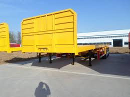 PANDA 3 Axle 40ft 20ft 50ton Flatbed Container Truck Trailer With ...