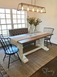 DIY Farmhouse Pedestal Table - Free Plans & Video Tutorial