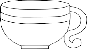 Black And White Cup Clip Art