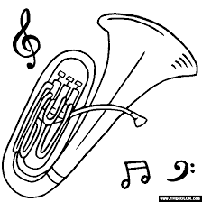 Tuba Musical Instrument Coloring Page