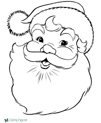 Santa Clause Christmas Coloring Pages