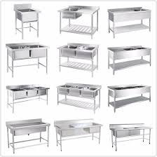 high quality commercial stainless steel fish cleaning table with
