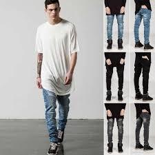 2017 2016 new european fashion mens straight slim fit trousers