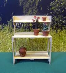 Miniature Potting Bench For The Dollhouse Garden