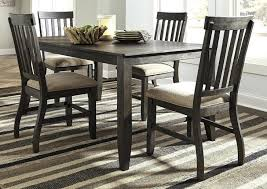 Dresbar Grayish Brown Rectangular Dining Room Table W 4 Side Chairssignature Design By Furniture Round B