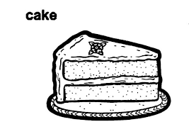 Slice Cake Coloring Pages item 7090