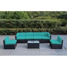 Resin Wicker Chairs Walmart by Ohana Mezzo 7 Piece Outdoor Wicker Patio Furniture Sectional