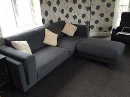 ikea nockeby 3 seater sofa and footstool in bishop auckland