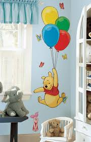 Winnie The Pooh Nursery Bedding by Nursery Wall Decals Kids Room Stickers Brightly Colored Tree And