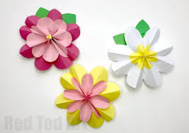 Easy 3D Paper Flowers For Spring