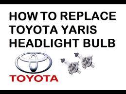 how to change toyota yaris 2002 headlight bulb