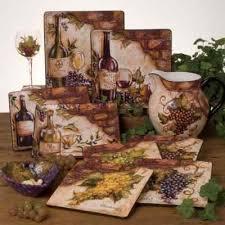 Tuscan Old World Wine Cellar 24 Pc Dinnerware Set Handpainted Grape Design On EBay
