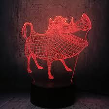 led tier beleuchtung wildschwein form len schöne kinder schlafzimmer schreibtisch kreative decor nützliche geschenk für kinder lava display