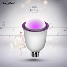 bluetooth smart led light bulb speaker multicolored dimmable color