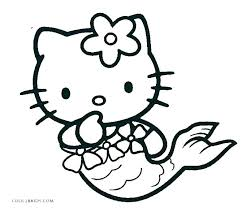 Christmas Kitten Coloring Pages Printable Hello Kitty Free