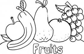 Fruits Vegetables Clipart Coloring Page Pencil And In Color