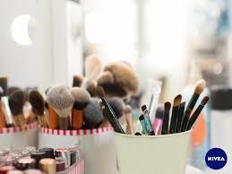 schminke aufbewahren make up co richtig lagern nivea