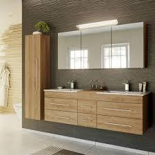 badmöbel set in eiche hell newland 02 waschtisch mit 2 waschbecken le