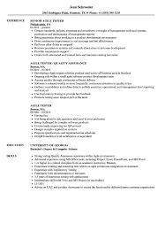 100 Agile Resume Tester Samples Velvet Jobs