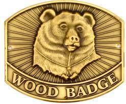 100 The Madalion Bear Wood Badge Hiking Staff Medallion