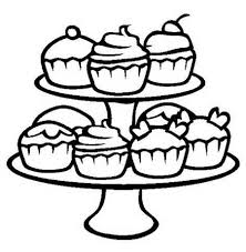 Cupcake Coloring Pages Kids Cute