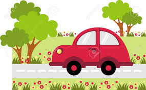 Car Clipart On Road 4