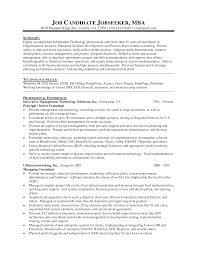 Resume For Mba Program