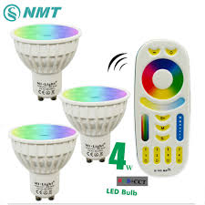 4w gu10 led spotlight bulb l mi light rgb cct dimmable 85 265v