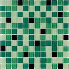shop elida ceramica pop green squares mosaic glass wall