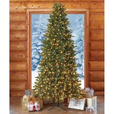 9 Ft Pre Lit Slim Christmas Tree by 9 U0027 Artificial Pre Lit Slim Christmas Tree