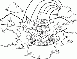 St Patricks Day Coloring Pages Leprechaun Playing Violin