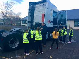 100 Girls On Trucks P6 Visit From Road Safety Truck Ballycarrickmaddy Primary School