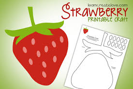 Printable Strawberry Craft