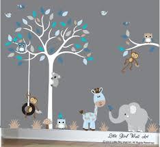 Wall Decor For Baby Boy Enchanting Decor Baby Boy Wall Decal Nursery White Tree Wall Decal Grey Blue Boy Nursery Wall Decals L E