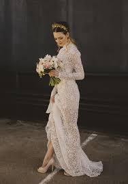 long sleeve lace wedding dress with high neckline i have 2