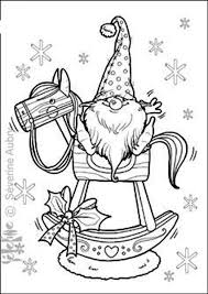 Grinch Christmas Printable Coloring Pages Drawings Tomte On Rocking Horse Winter Stitchery