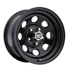 100 8 Lug Truck Wheels 17 Vision Soft Black 17x9 X65 Chevy Dodge GMC Wheel